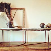 2 tables demi lune nature morte